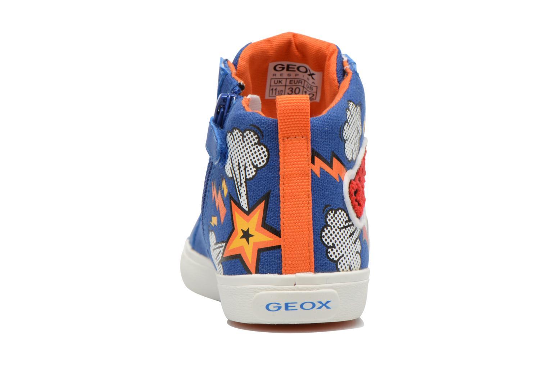 Baskets Geox J Kiwi B. C J62A7C Bleu vue droite