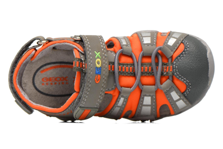 Sandales et nu-pieds Geox B Sandal Kraze B B6224B Gris vue gauche