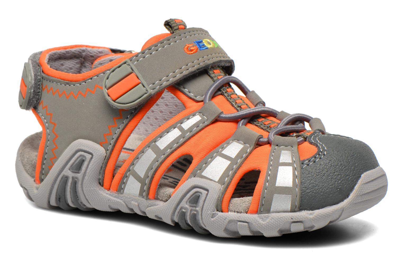 Sandales et nu-pieds Geox B Sandal Kraze B B6224B Gris vue détail/paire