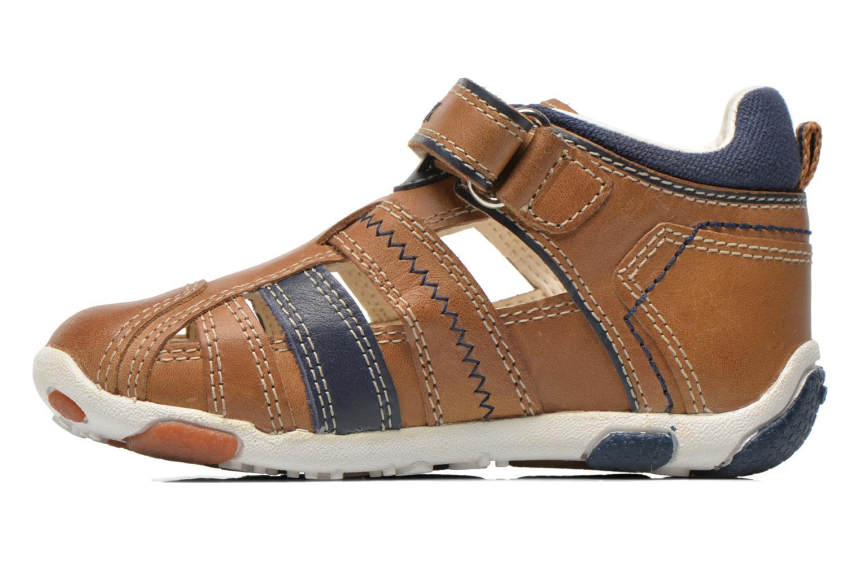 Chaussures à scratch Geox B Balu' B. B B6236B Beige vue face