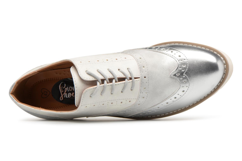 Chaussures à lacets I Love Shoes THINA Size + Argent vue gauche