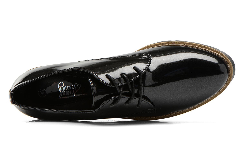Snøresko I Love Shoes THALY Sort se fra venstre