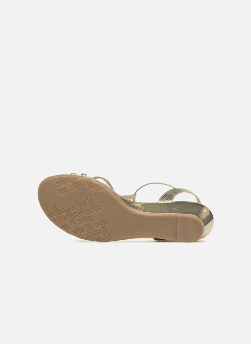 Sandales et nu-pieds Jonak ROZIE 7536 Or et bronze vue haut
