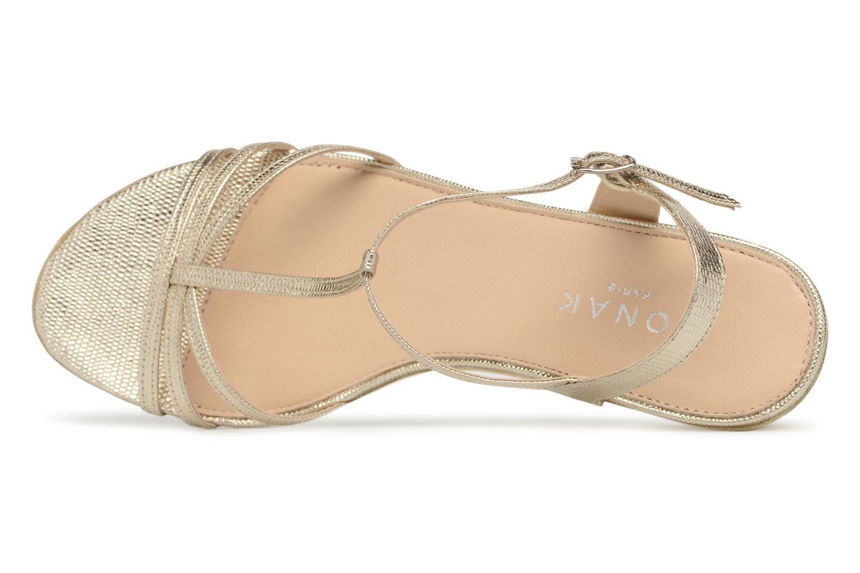 Sandales et nu-pieds Jonak ROZIE 7536 Or et bronze vue gauche