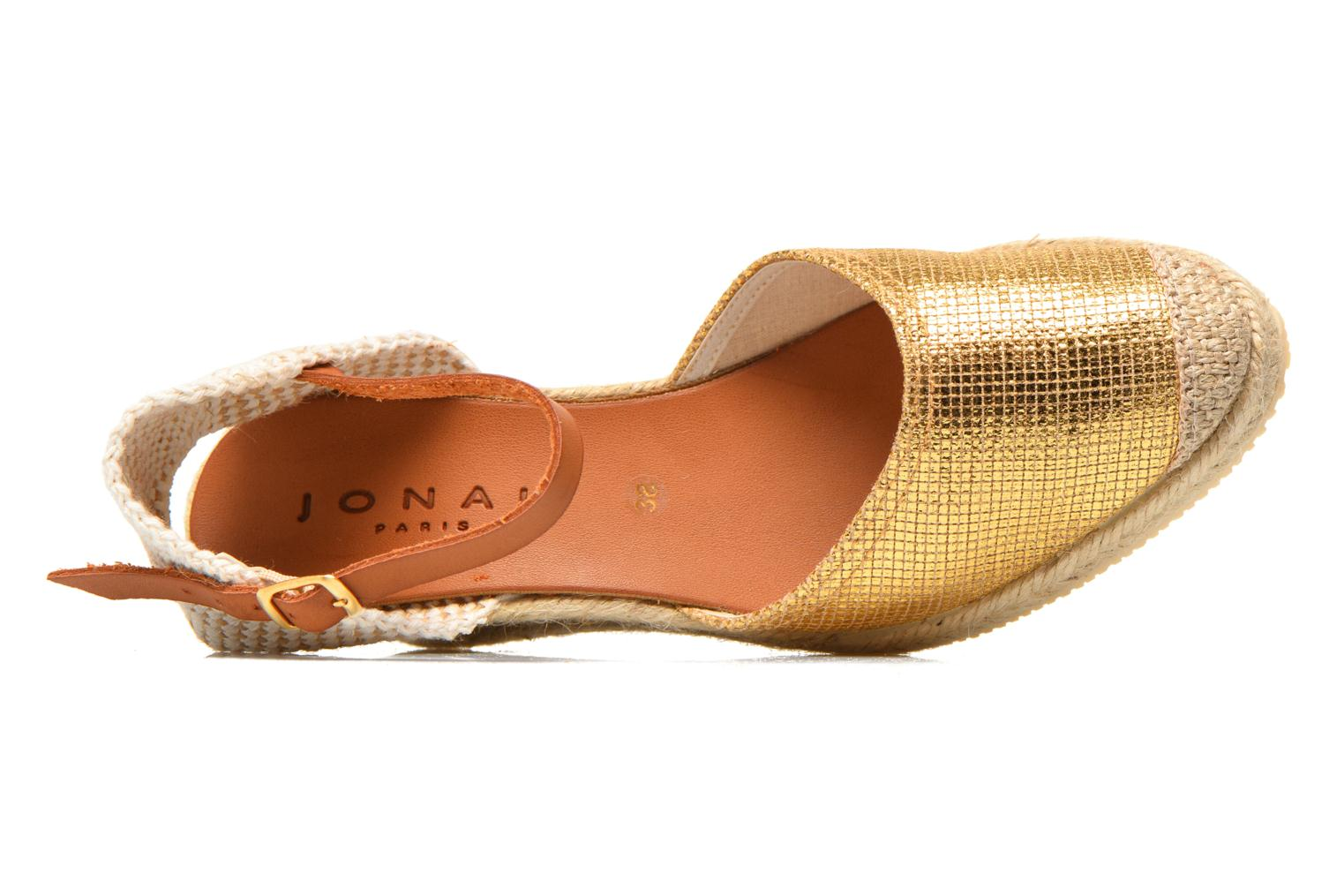 Sandals Jonak Solange Bronze and Gold view from the left