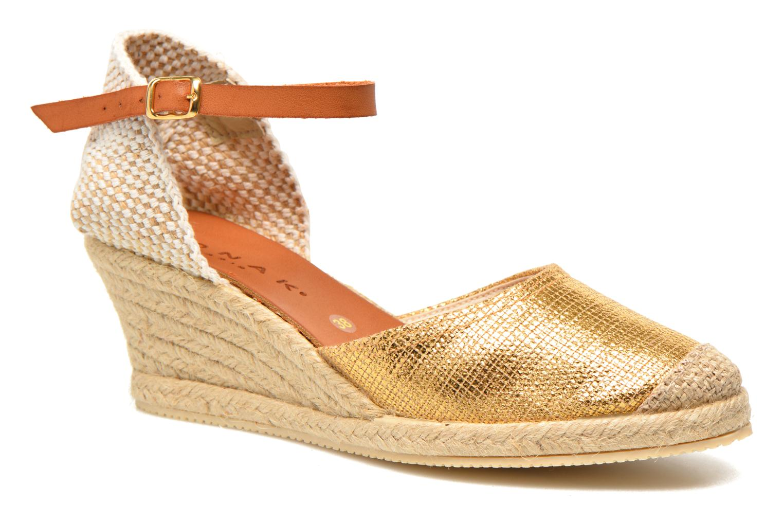 Sandals Jonak Solange Bronze and Gold detailed view/ Pair view