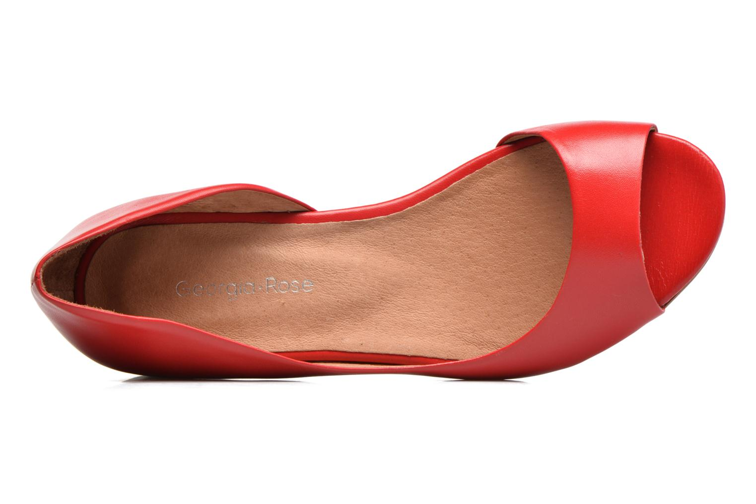 Ballet pumps Georgia Rose Emoto Red view from the left