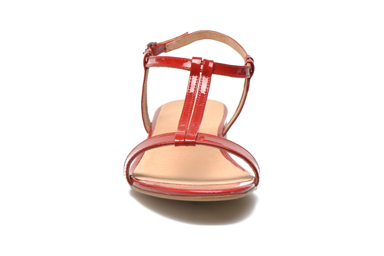 Sandales et nu-pieds Georgia Rose Etata Rouge vue portées chaussures