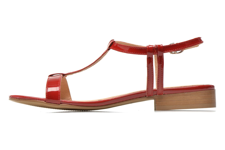 Sandales et nu-pieds Georgia Rose Etata Rouge vue face