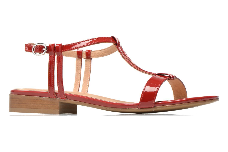 Sandales et nu-pieds Georgia Rose Etata Rouge vue derrière