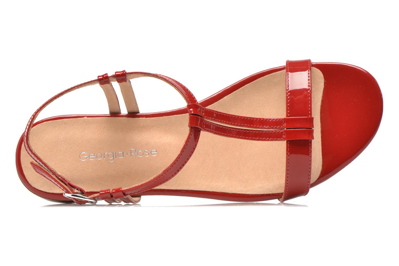 Sandales et nu-pieds Georgia Rose Etata Rouge vue gauche