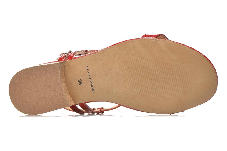 Sandales et nu-pieds Georgia Rose Etata Rouge vue haut