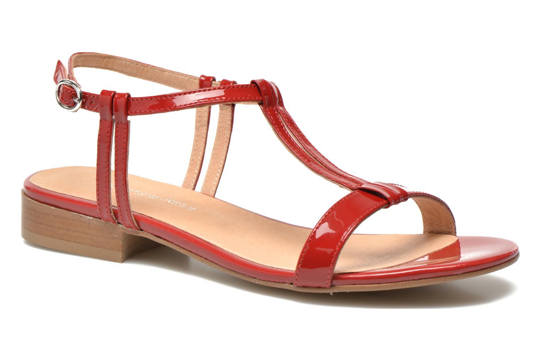 Sandales et nu-pieds Georgia Rose Etata Rouge vue détail/paire
