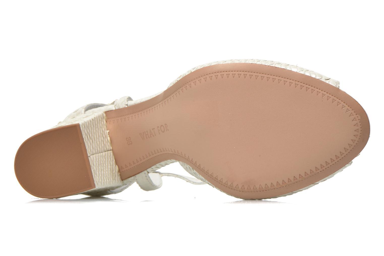 Sandales et nu-pieds What For Jimmy Blanc vue haut