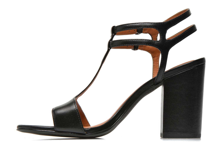 Sandales et nu-pieds What For Joly Noir vue face