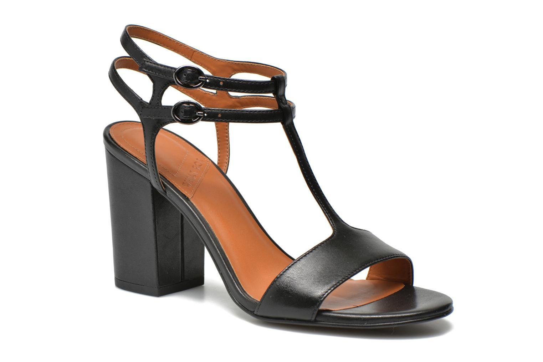 Sandales et nu-pieds What For Joly Noir vue détail/paire