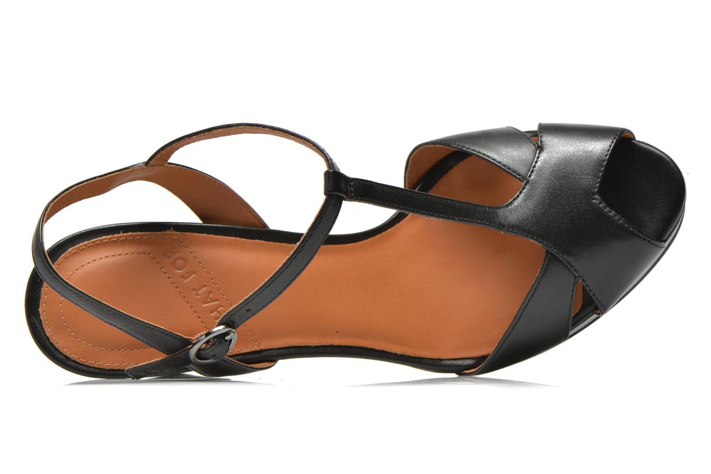 Sandales et nu-pieds What For Damya Noir vue gauche