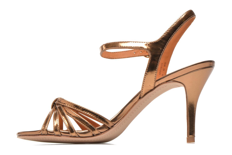 Sandalias What For Salsa Oro y bronce vista de frente