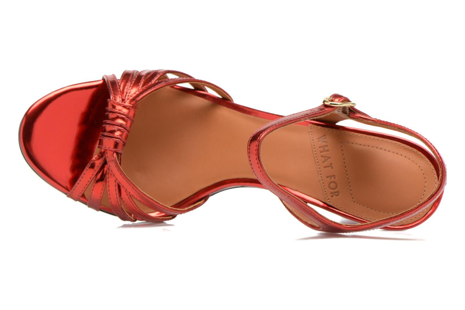 Sandalias What For Salsa Rojo vista lateral izquierda