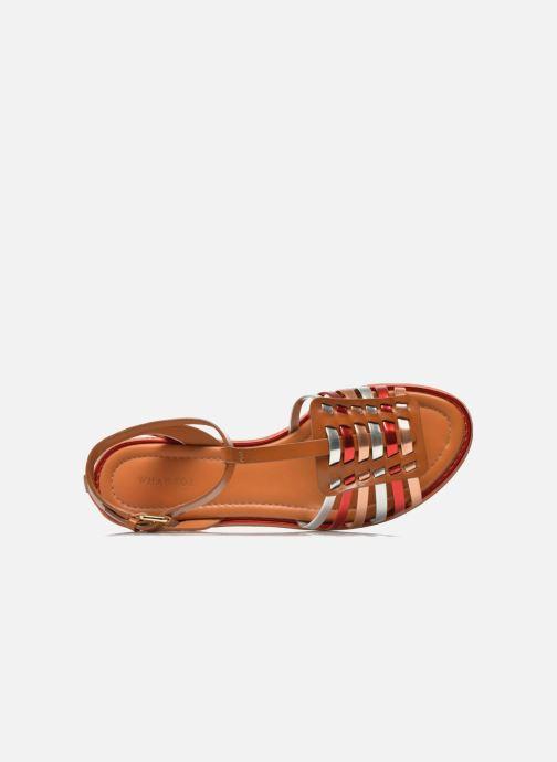 Sandales Pralie What For Rouge cognac Et Nu pieds 3ARcL4q5j
