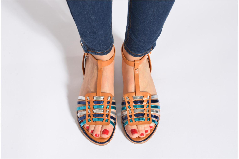 Sandales et nu-pieds What For Pralie Bleu vue bas / vue portée sac