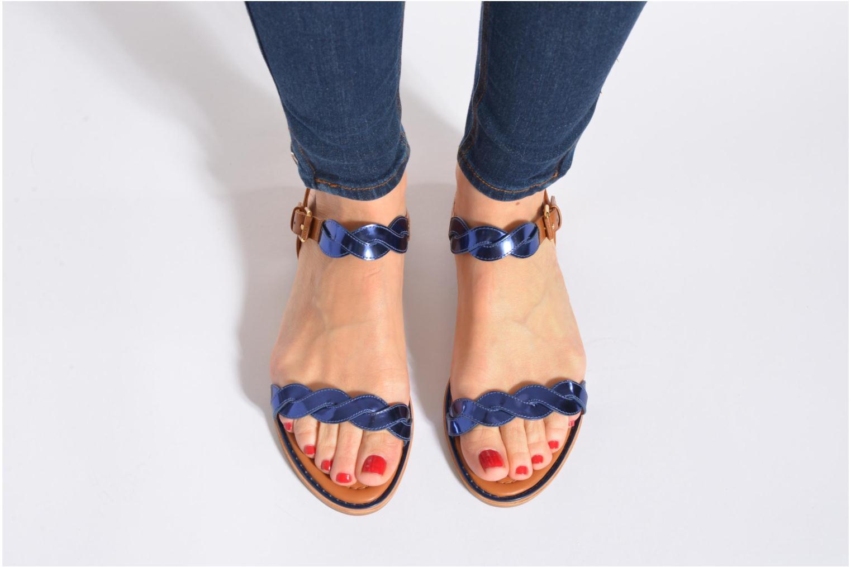 Sandales et nu-pieds What For Julian Or et bronze vue bas / vue portée sac