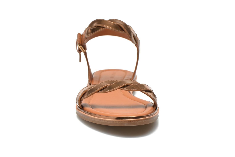 Sandales et nu-pieds What For Julian Or et bronze vue portées chaussures