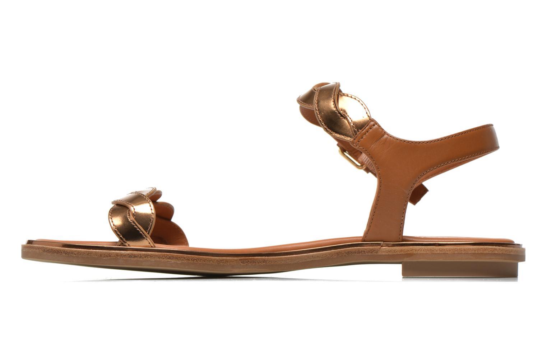 Sandales et nu-pieds What For Julian Or et bronze vue face