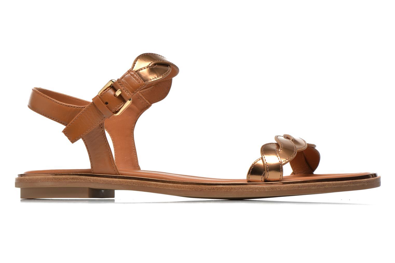 Sandales et nu-pieds What For Julian Or et bronze vue derrière