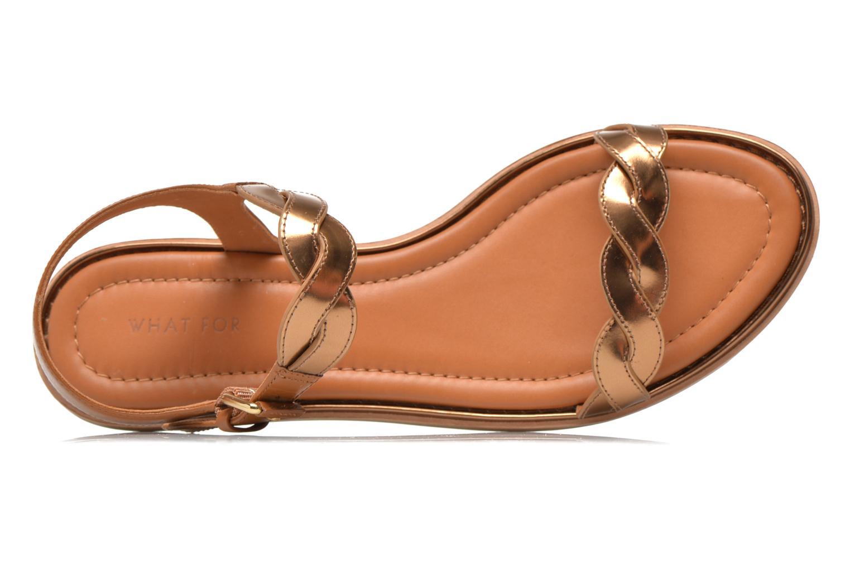 Sandales et nu-pieds What For Julian Or et bronze vue gauche