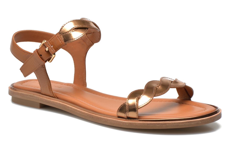 Sandales et nu-pieds What For Julian Or et bronze vue détail/paire