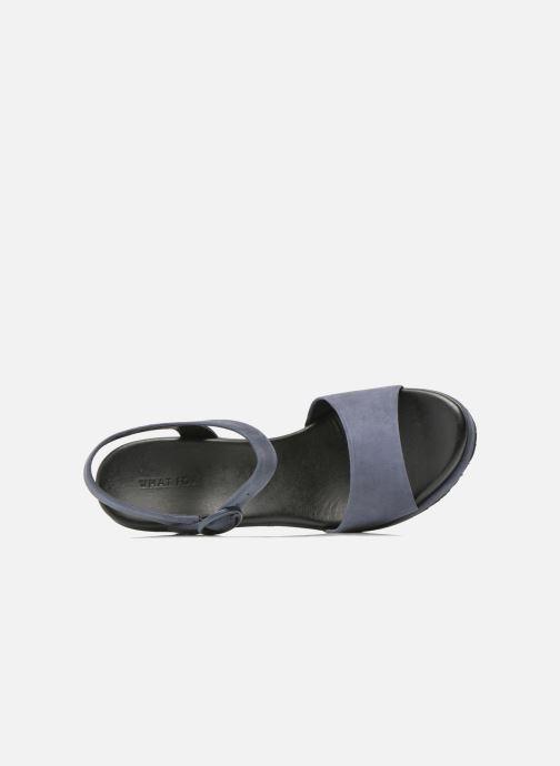 Sandalen What For Kanye blau ansicht von links