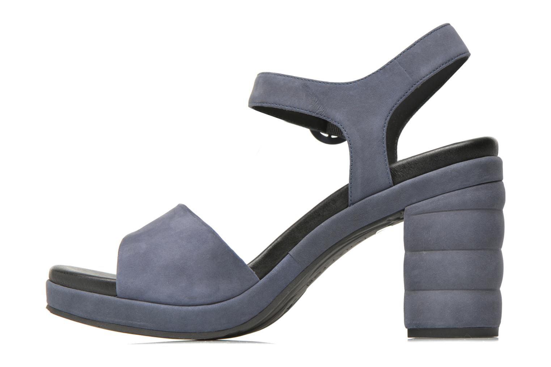 Sandales et nu-pieds What For Kanye Bleu vue face