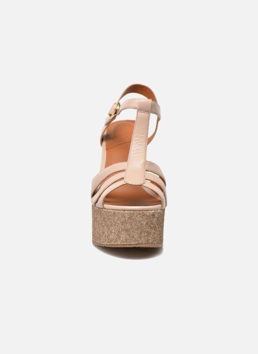 Sandales et nu-pieds What For Cabia Beige vue portées chaussures