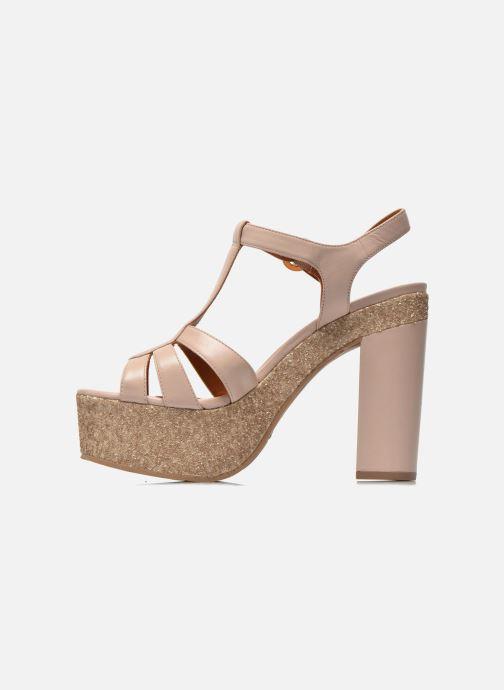 Sandales et nu-pieds What For Cabia Beige vue face