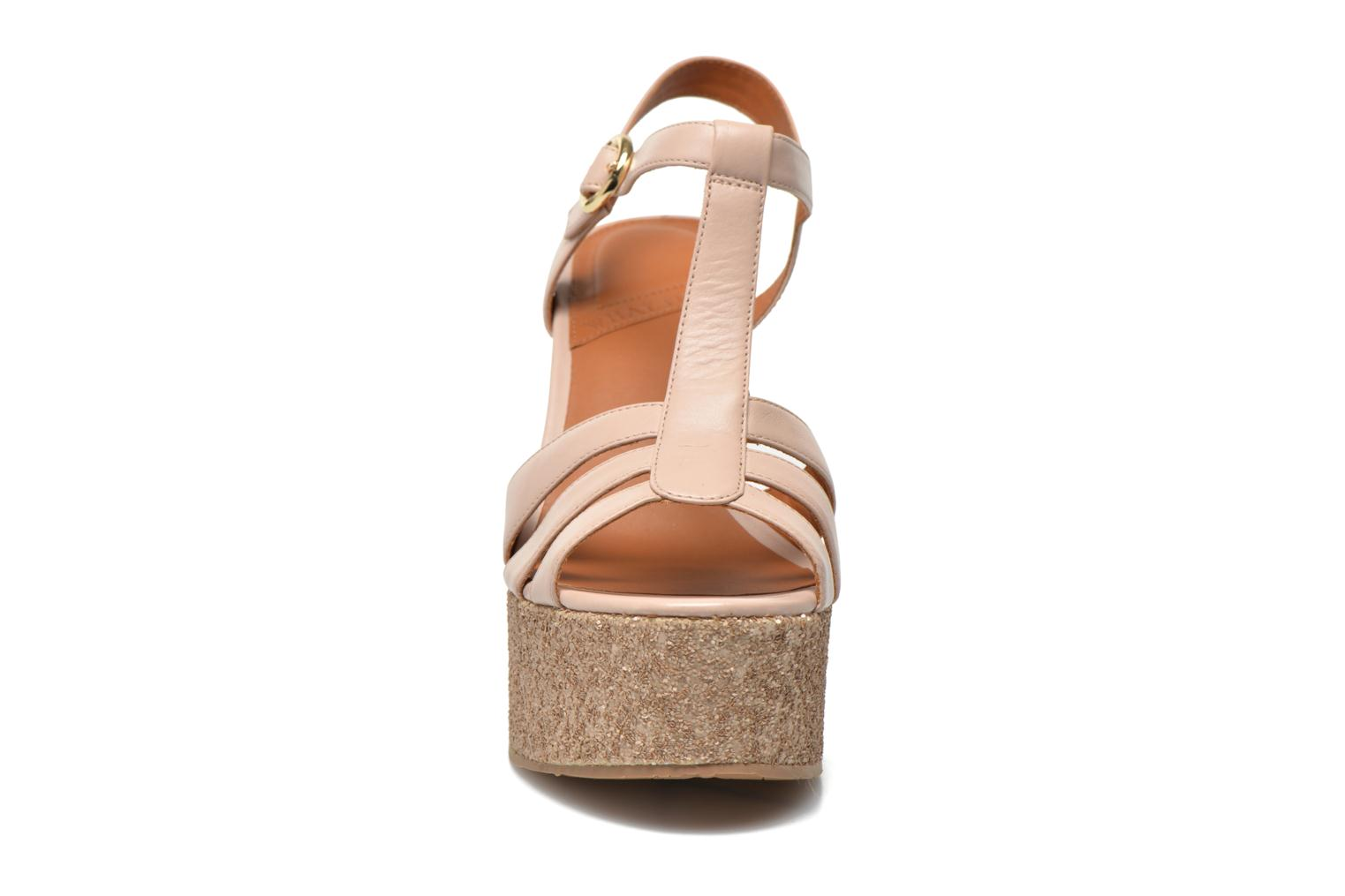 Sandals What For Cabia Beige model view