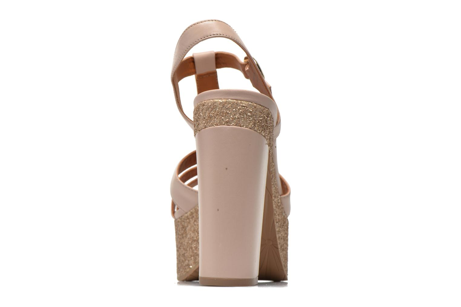 Sandals What For Cabia Beige view from the right