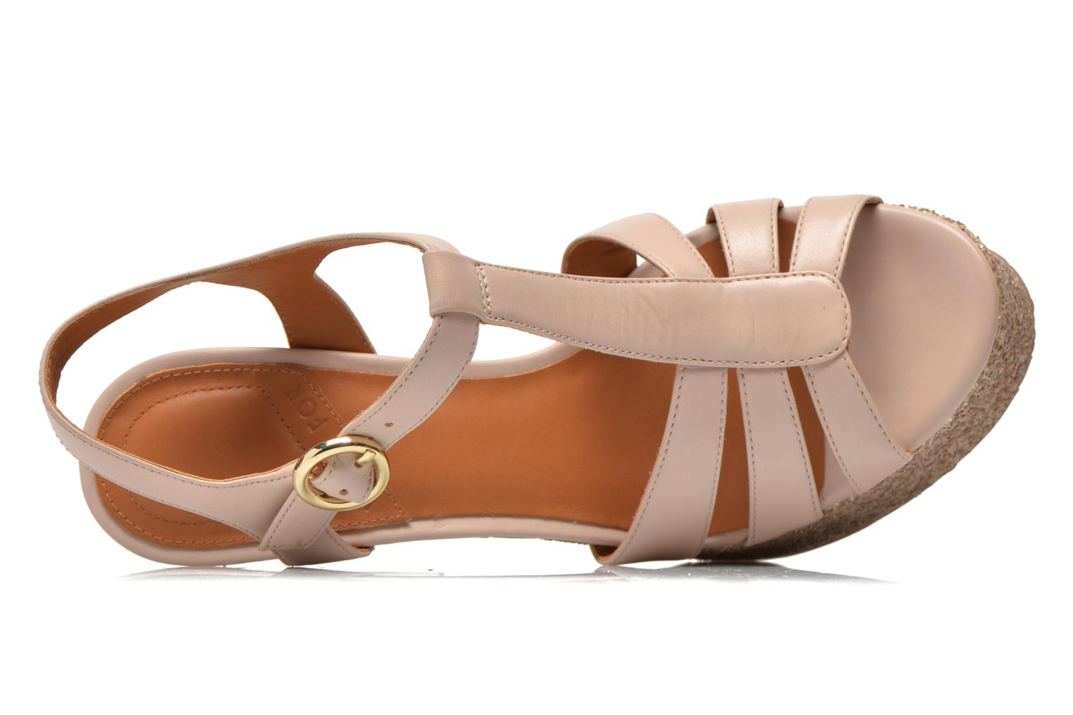 Sandals What For Cabia Beige view from the left
