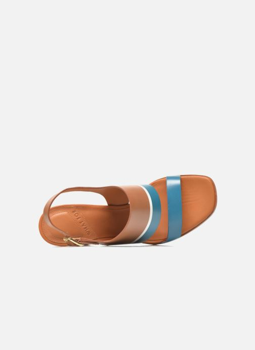 Nu Miller bleu pieds Et What Cognac For Sandales dtsQhr