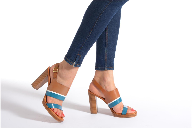 Sandales et nu-pieds What For Miller Bleu vue bas / vue portée sac