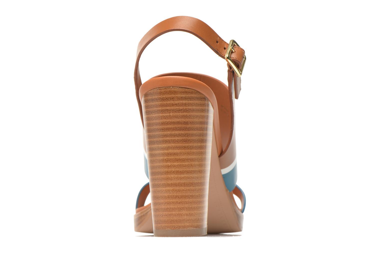 Sandales et nu-pieds What For Miller Bleu vue droite
