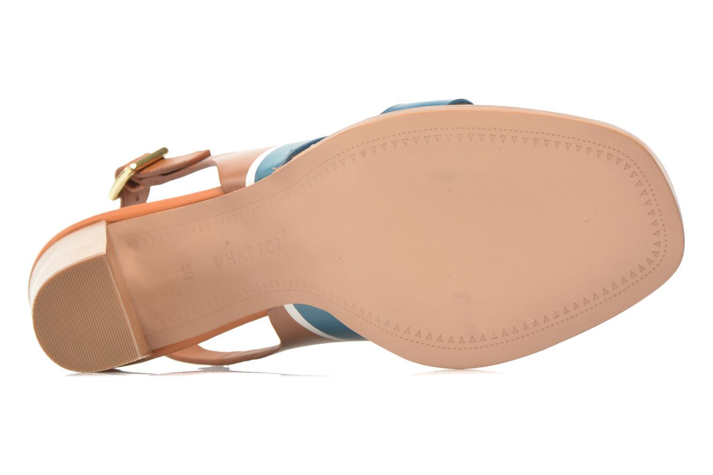 Sandales et nu-pieds What For Miller Bleu vue haut