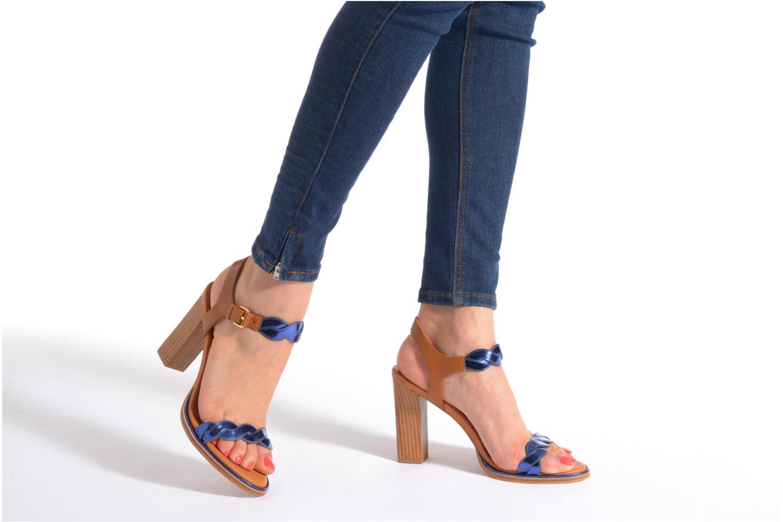 Sandales et nu-pieds What For July Bleu vue bas / vue portée sac