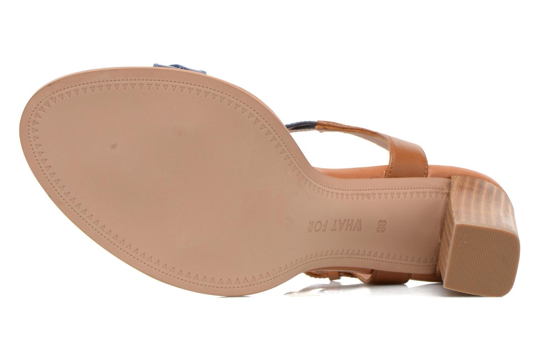 Sandales et nu-pieds What For July Bleu vue haut
