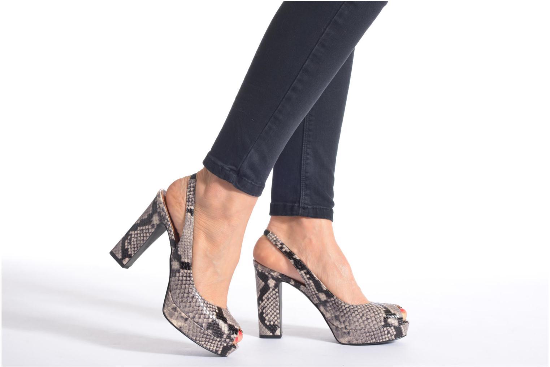 Sandales et nu-pieds What For Taveda Multicolore vue bas / vue portée sac