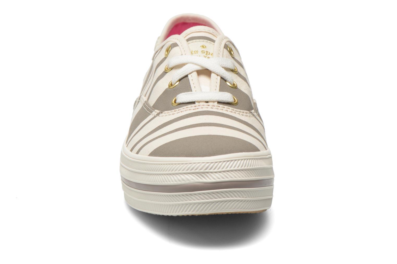 Trainers Keds Triple Fairemont Stripe Grey model view