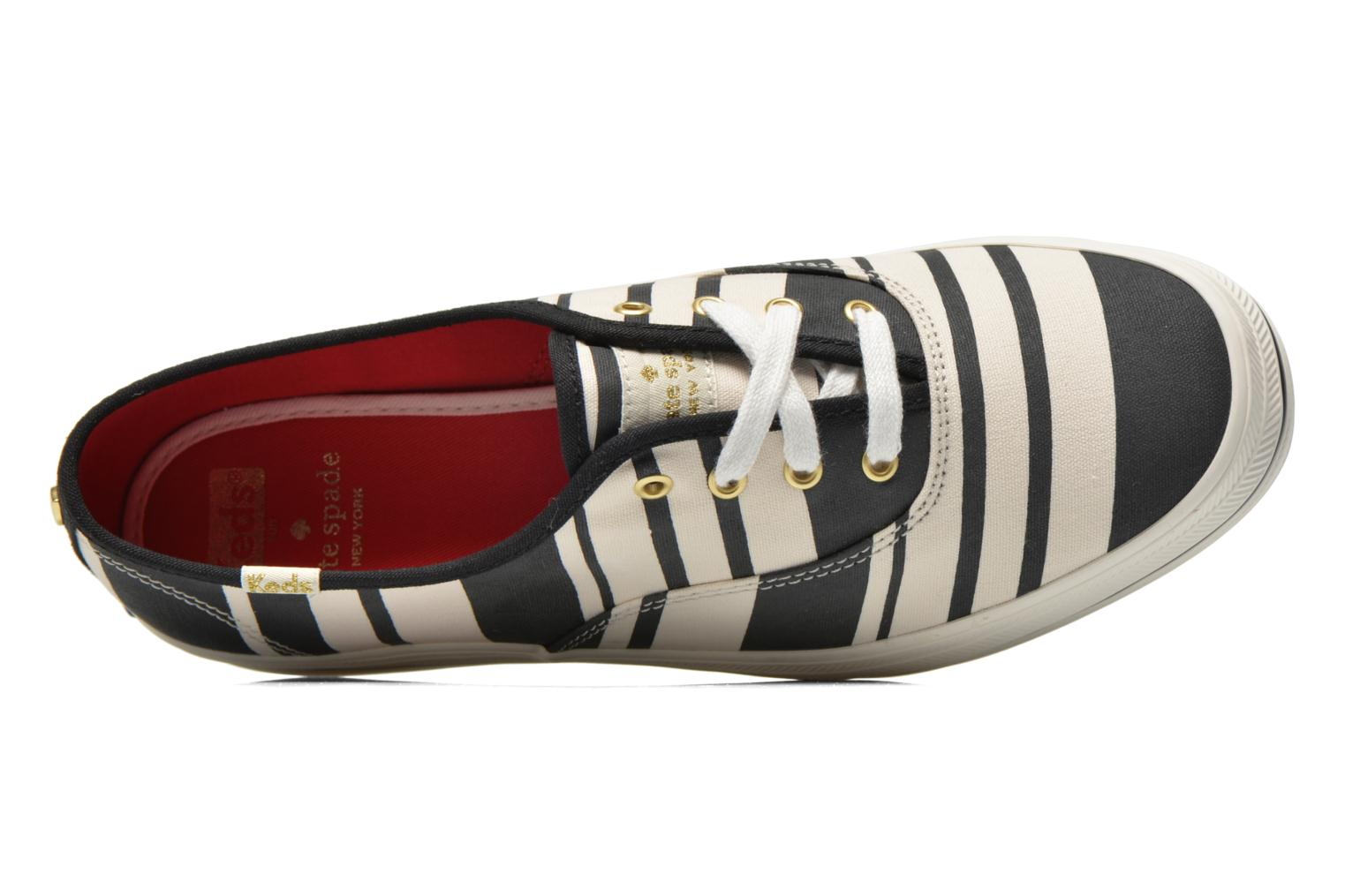 Trainers Keds Triple Fairemont Stripe Black view from the left