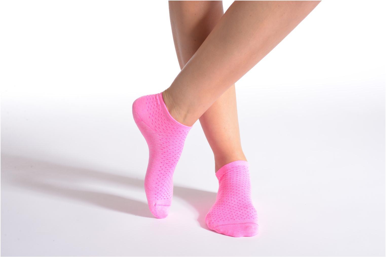 Chaussettes et collants BLEUFORÊT Mini-Socquettes POIS FLUO C Rose vue détail/paire