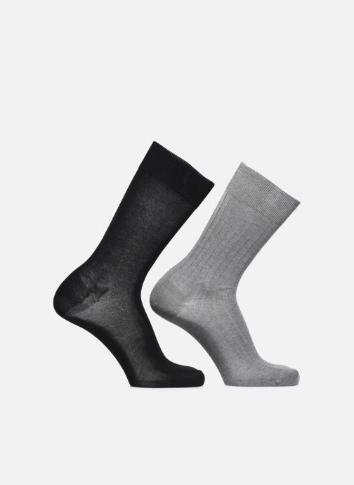 Chaussettes et collants Sarenza Wear Chaussettes fils d'écosse Pack de 2 Gris vue détail/paire