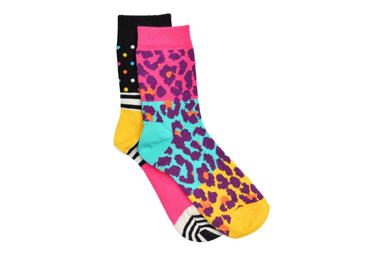 Chaussettes et collants Happy Socks Chaussettes LEOPARD Pack de 2 Multicolore vue détail/paire